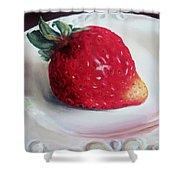 Uptown Strawberry Girl Shower Curtain