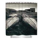 Upturned Boats Shower Curtain