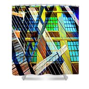 Urban Abstract 123 Shower Curtain