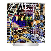 Urban Abstract 172 Shower Curtain