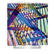 Urban Abstract 258 Shower Curtain