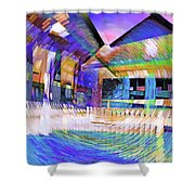 Urban Abstract 333 Shower Curtain