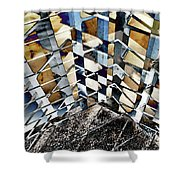 Urban Abstract 343 Shower Curtain