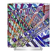 Urban Abstract 352 Shower Curtain