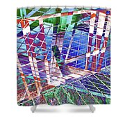 Urban Abstract 411 Shower Curtain