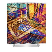 Urban Abstract 423 Shower Curtain