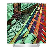 Urban Abstract 472 Shower Curtain