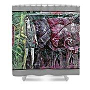 Urban Abstract,pop Art Shower Curtain