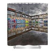 Urban Art Reflection Shower Curtain