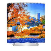Urban Autumn Paradise Shower Curtain