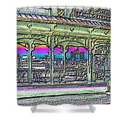 Urban Boat Landing Shower Curtain