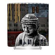 Urban Buddha  Shower Curtain