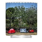 Urban Camping Shower Curtain