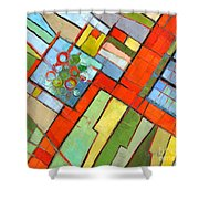 Urban Composition - Abstract Zoning Plan Shower Curtain