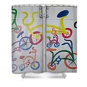 Urban Container Art I I Shower Curtain