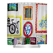 Urban Container Art V Shower Curtain