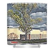 Urban Cottonwood Shower Curtain