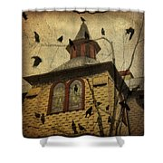 Urban Crows Shower Curtain