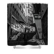 Urban Darkness Shower Curtain