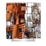 Urban Geometry 1 Shower Curtain