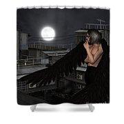 Urban Guardian Angel - Standing Shower Curtain