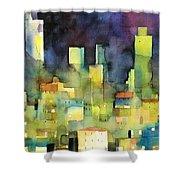 urban landscape 11 - le torri di San Gimignano Shower Curtain