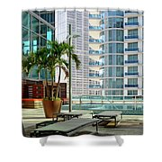 Urban Landscape, Miami, Florida Shower Curtain