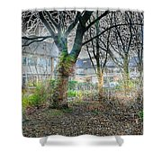 Urban Mythical Nature Art Shower Curtain