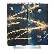 Urban Nightscape Shower Curtain