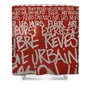 Urban Paris Shower Curtain