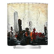 Urban Poetry Shower Curtain