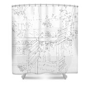 Urban River Bank Shower Curtain