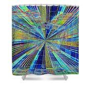 Urban Starburst Shower Curtain