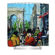 Urban Story - Champs Elysees Shower Curtain