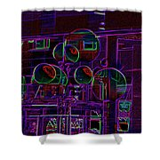 Urban Street Scene Shower Curtain