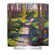 Urban Trail Climb Shower Curtain