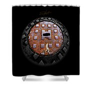 Urban Voice Button Shower Curtain