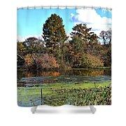 Urieville Pond Shower Curtain
