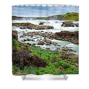 Urridafoss Waterfall And River Pjorsa In Iceland Shower Curtain