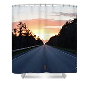 Us-41 To Miami  Shower Curtain