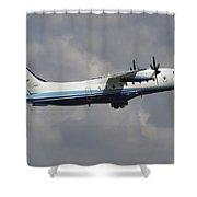 U.s. Air Force Dornier 328 Transiting Shower Curtain