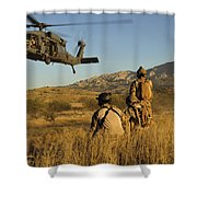 U.s. Air Force Pararescuemen Signal Shower Curtain