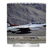 U.s. Air Force Thunderbird F-16 Shower Curtain