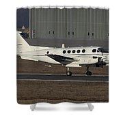 U.s. Army C-12 Huron Liaison Aircraft Shower Curtain by Timm Ziegenthaler