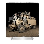 U.s. Army Medical Personnel Pose Shower Curtain