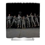 U.s. Army Pilots & Crew Chiefs Jump Shower Curtain