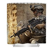 U.s. Army Ranger In Afghanistan Combat Shower Curtain
