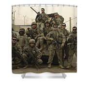 U.s. Army Soldiers Pose For A Photo Shower Curtain