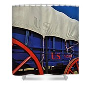 U S Army Supply Wagon Shower Curtain