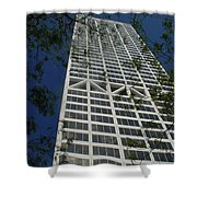 Us Bank With Trees Shower Curtain